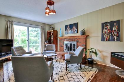 Family Room with Fireplace at 243 Willowridge Court, Bronte East, Oakville