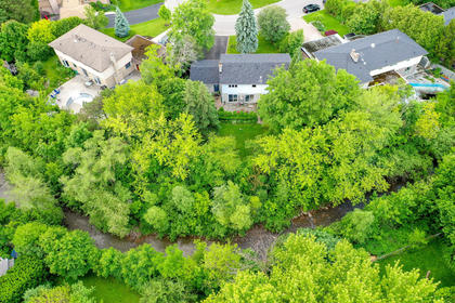 Aerial View of Property & Creek at 243 Willowridge Court, Bronte East, Oakville