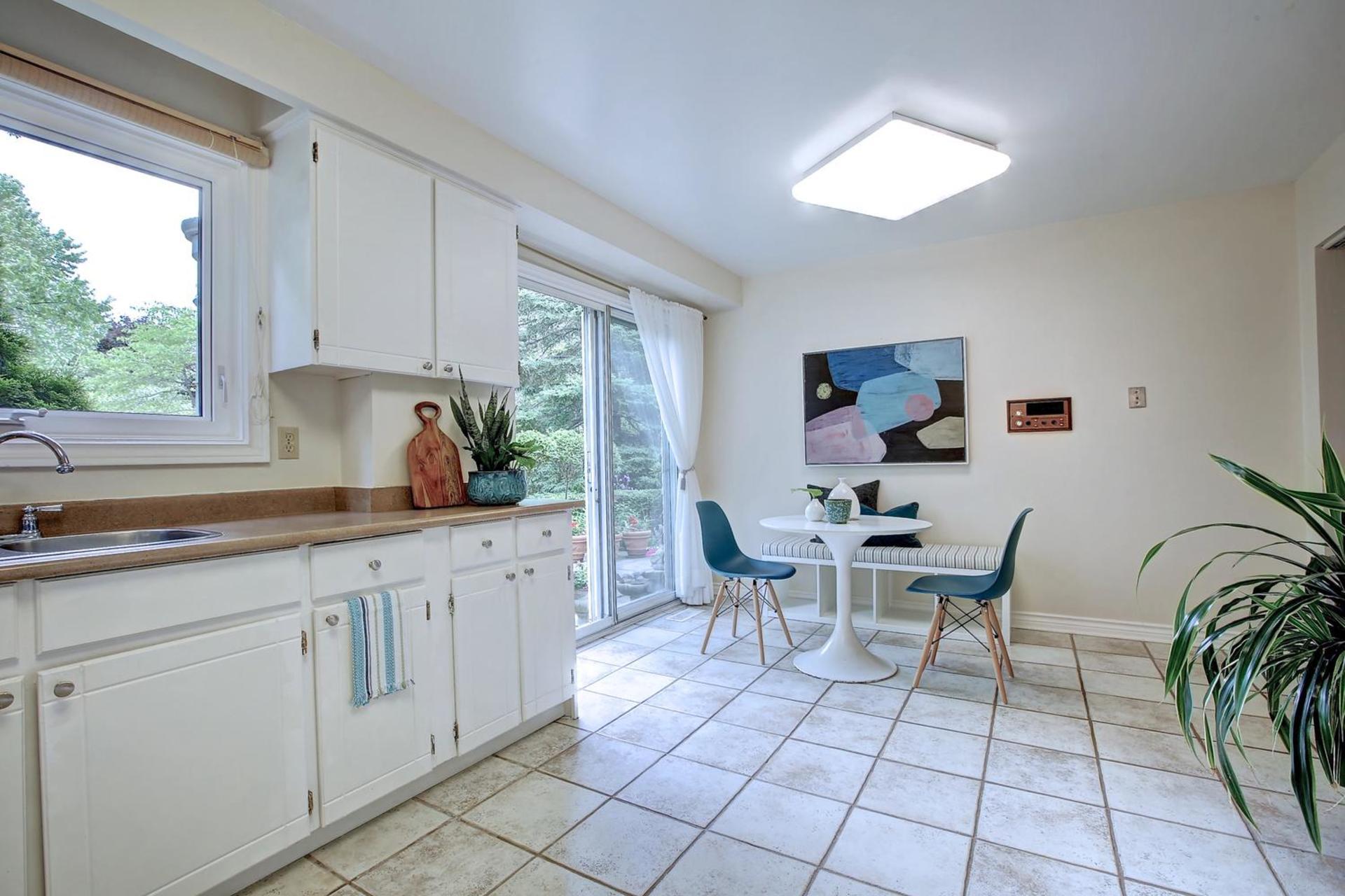 Kitchen with Breakfast Area at 243 Willowridge Court, Bronte East, Oakville