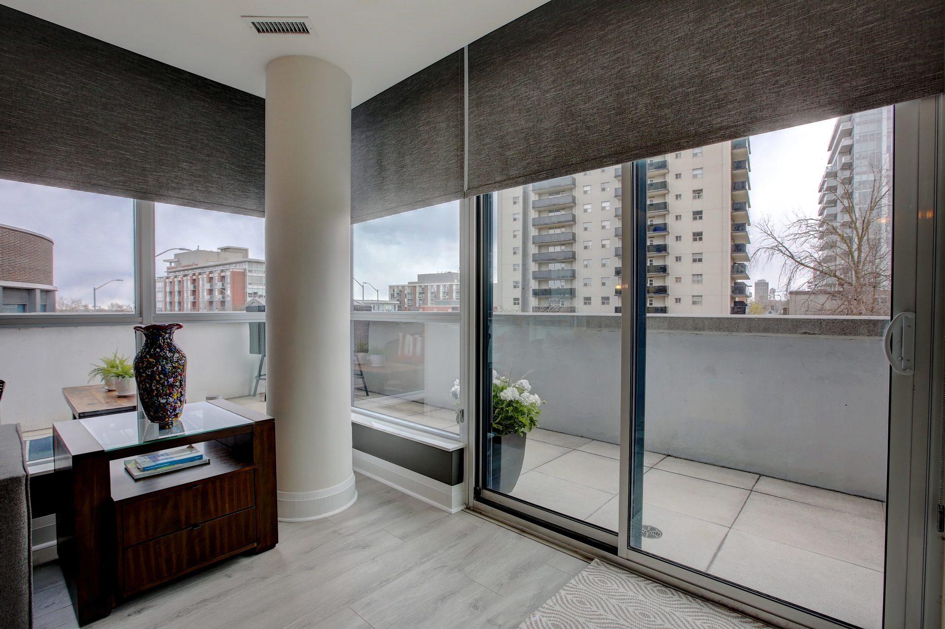 206-1 Hurontario St-Living Room/Terrace at 206 - 1 Hurontario Street, Port Credit, Mississauga
