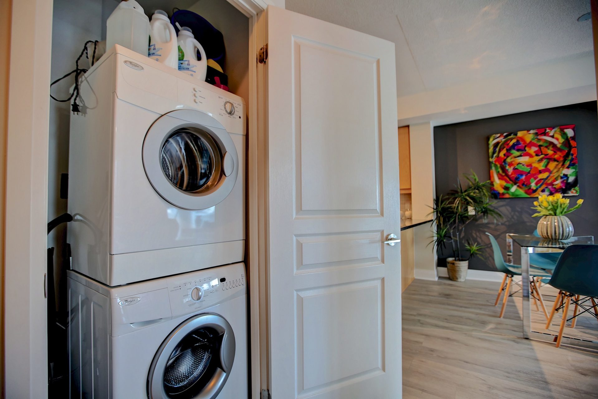 206-1 Hurontario St-In Suite Laundry at 206 - 1 Hurontario Street, Port Credit, Mississauga