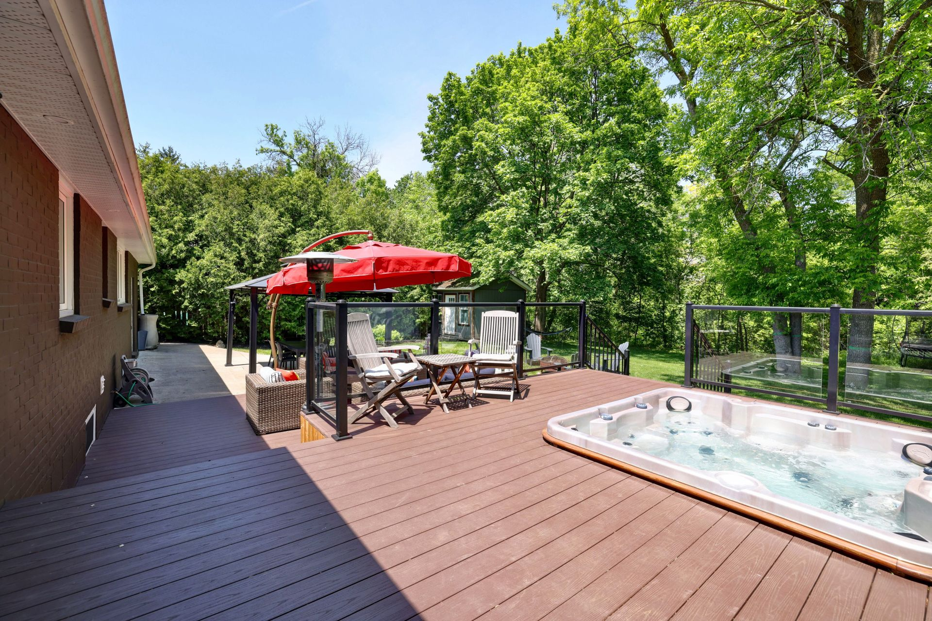 249-lakeview-ave-burlington-upper-deck-and-hot-tub at 249 Lakeview Ave, Burlington,