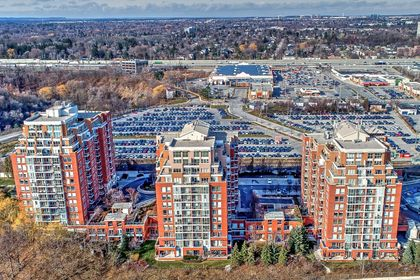 Aerial View of Buildings at 501 - 50 Old Mill Road, Oakville