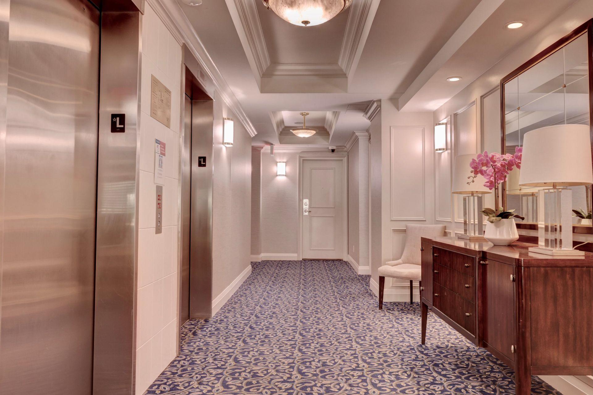 Hallway at 501 - 50 Old Mill Road, Oakville