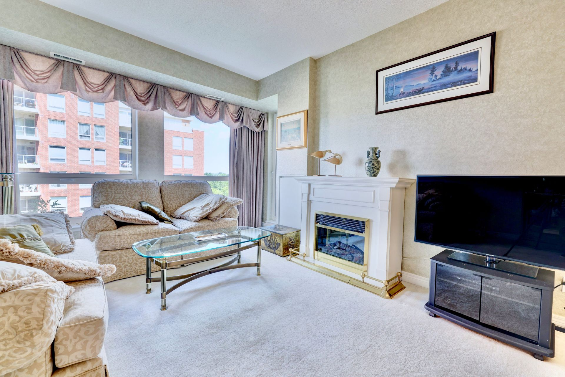 Living Room at 501 - 50 Old Mill Road, Oakville