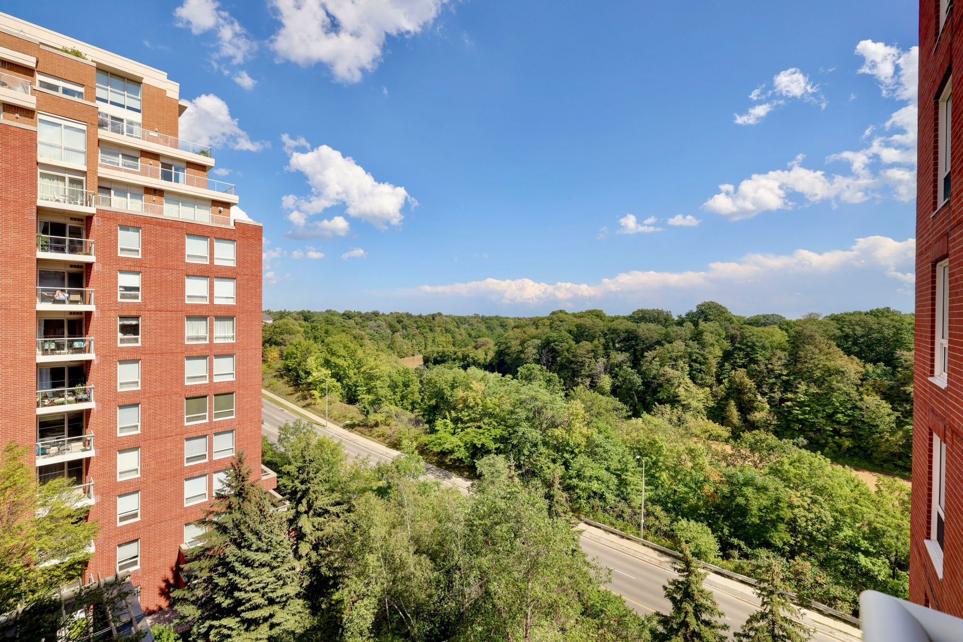 View from Balcony at 501 - 50 Old Mill Road, Oakville