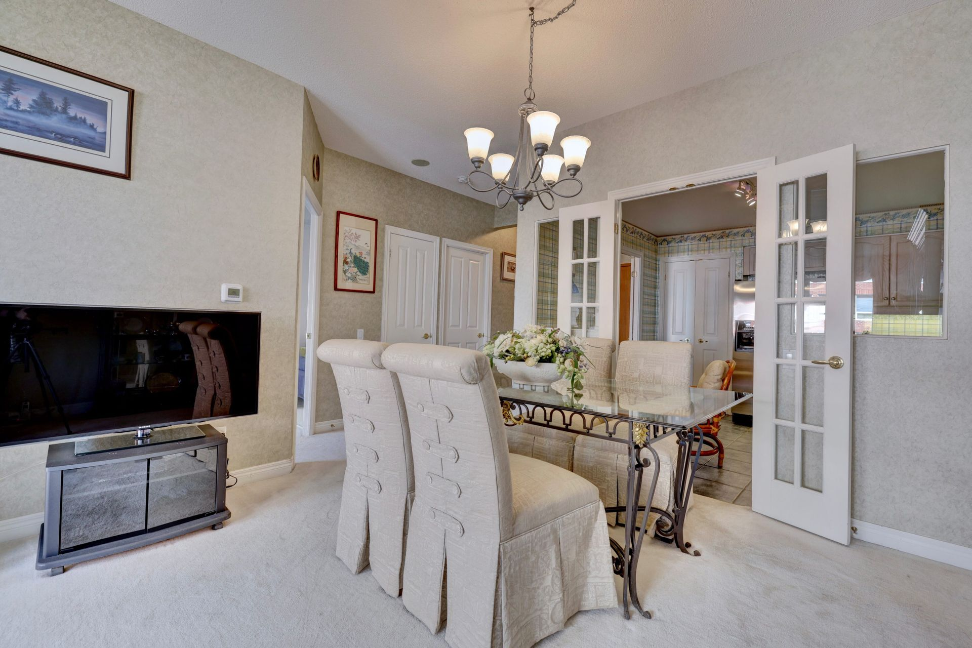 Dining Room at 501 - 50 Old Mill Road, Oakville