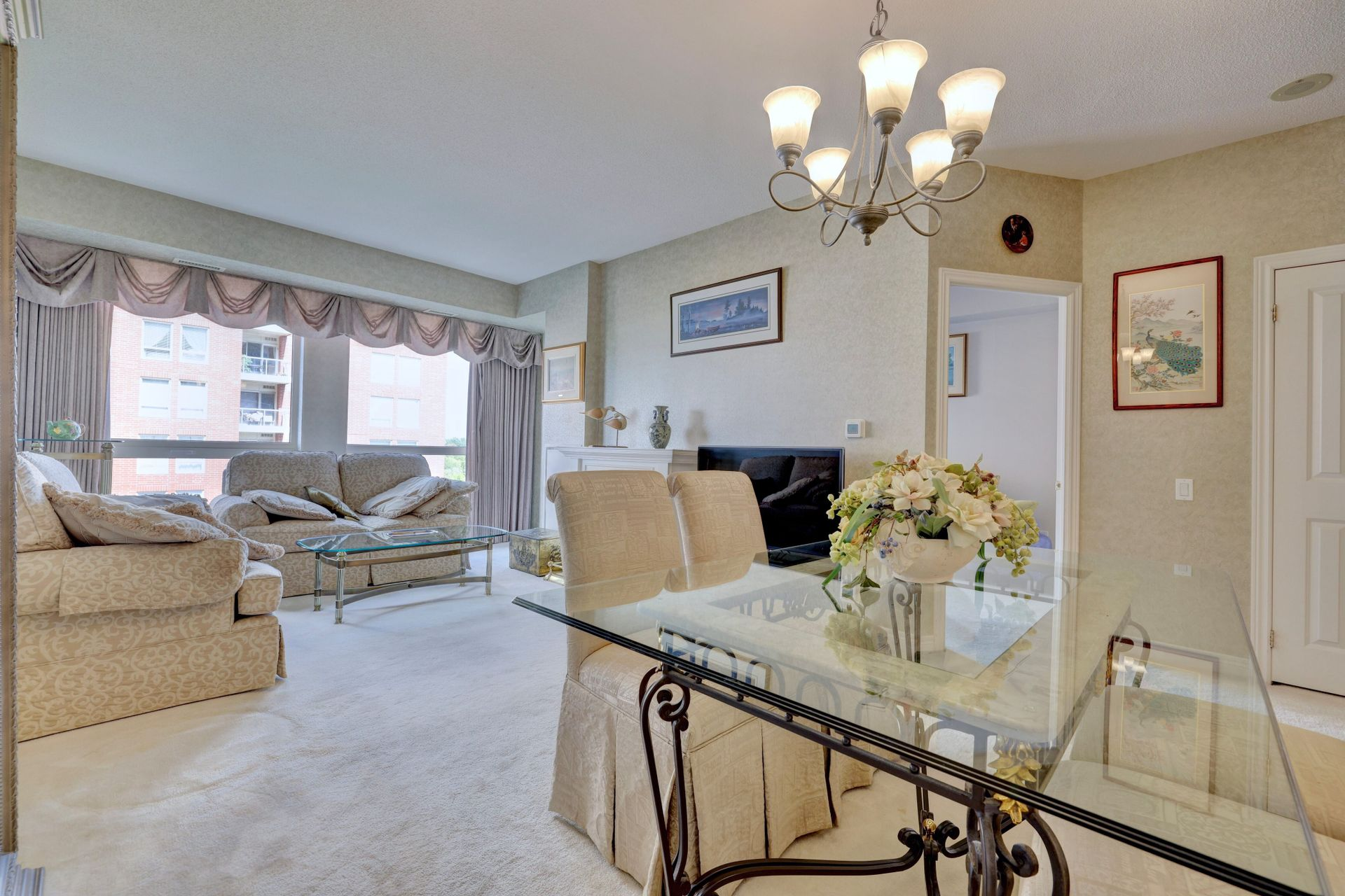 Living/Dining Room at 501 - 50 Old Mill Road, Oakville