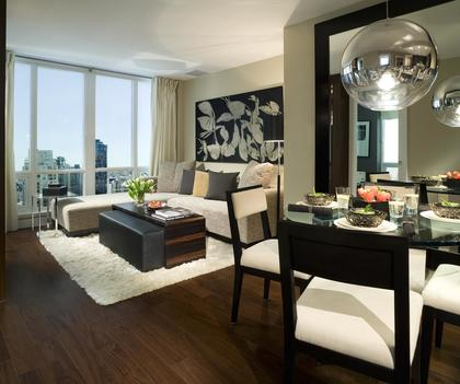 Dining-Living-5-wide at 1055 Richards Street, Yaletown, Vancouver West