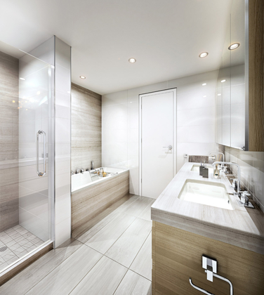 shannon-wall-int-bath at 513 -  W 57 Avenue, South Granville, Vancouver West
