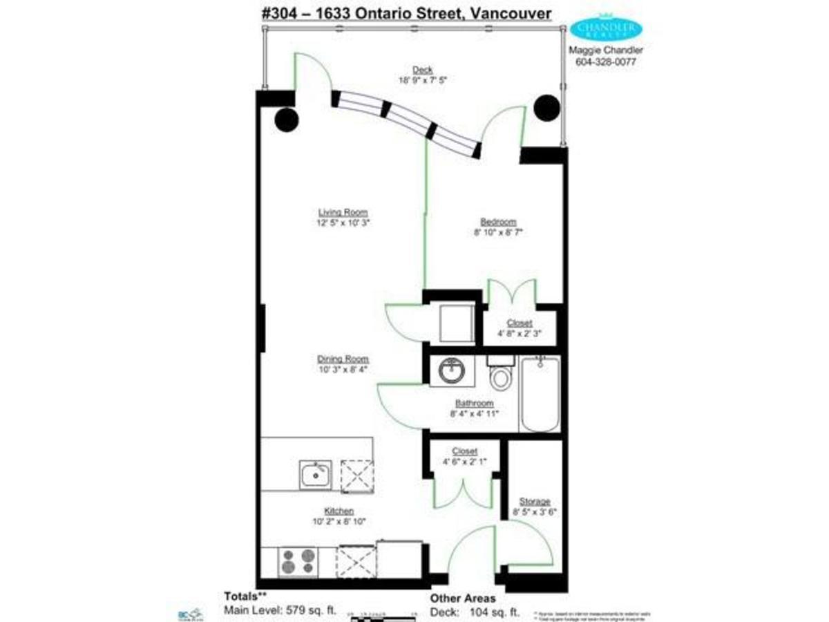 Floor Plan at 404 - 1633 Ontario Street, False Creek, Vancouver West