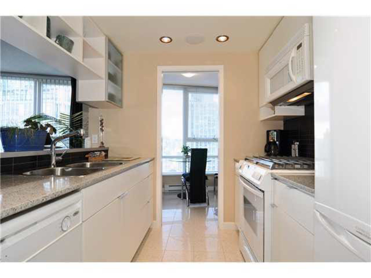 Kitchen at 2302 - 928 Beatty Street, Yaletown, Vancouver West