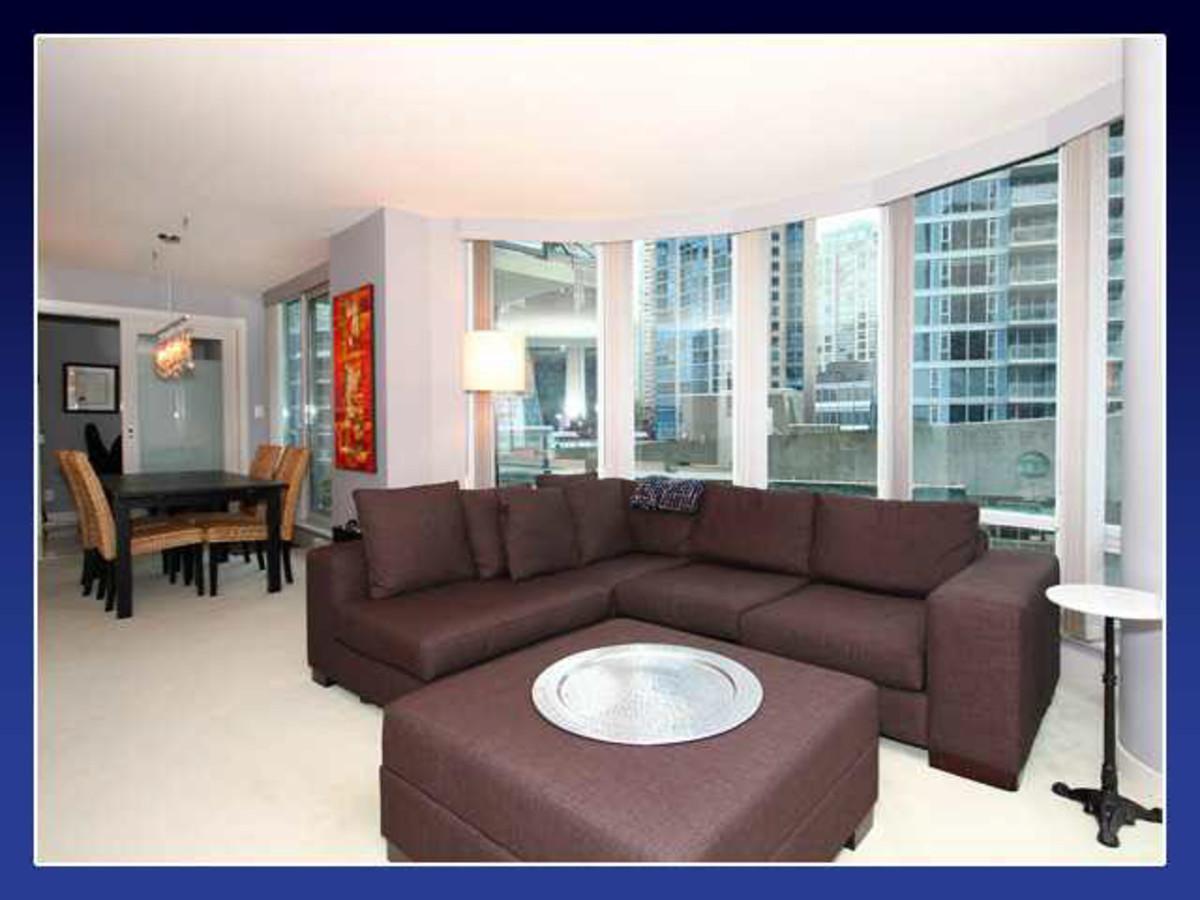 Livig room 2 at 906 - 590 Nicola Street, Coal Harbour, Vancouver West