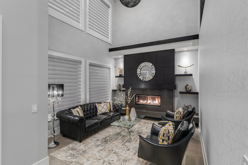 10-living-room at 14283 Marine Drive -  White Rock Rock,