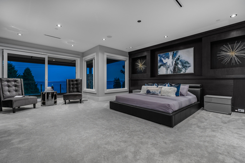 11-master-bedroom at 14283 Marine Drive -  White Rock Rock,