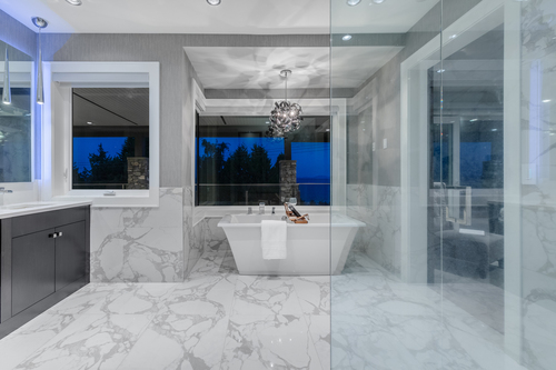 12-master-ensuite-with-view at 14283 Marine Drive -  White Rock Rock,