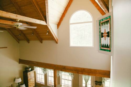 capulet-properties_otter-lake_vaulted-ceilings at Otter Lake Living -  Cottage And Coach House,