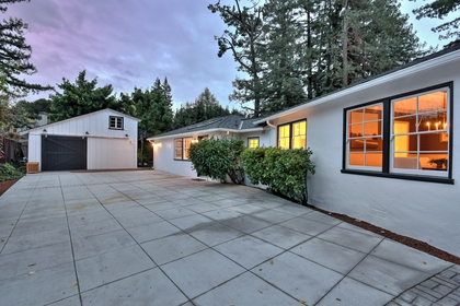 Driveway-and-Garage-Dusk at 6 Hermosa, Menlo Park