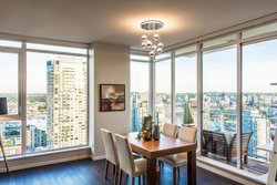 Living Room - Sunset  - Sub Penthouse - Maddox  at 3503 - 1351 Continental Street, Downtown VW, Vancouver West