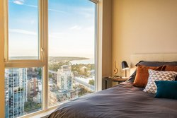 Bedroom - Sunset  - Sub Penthouse - Maddox  at 3503 - 1351 Continental Street, Downtown VW, Vancouver West