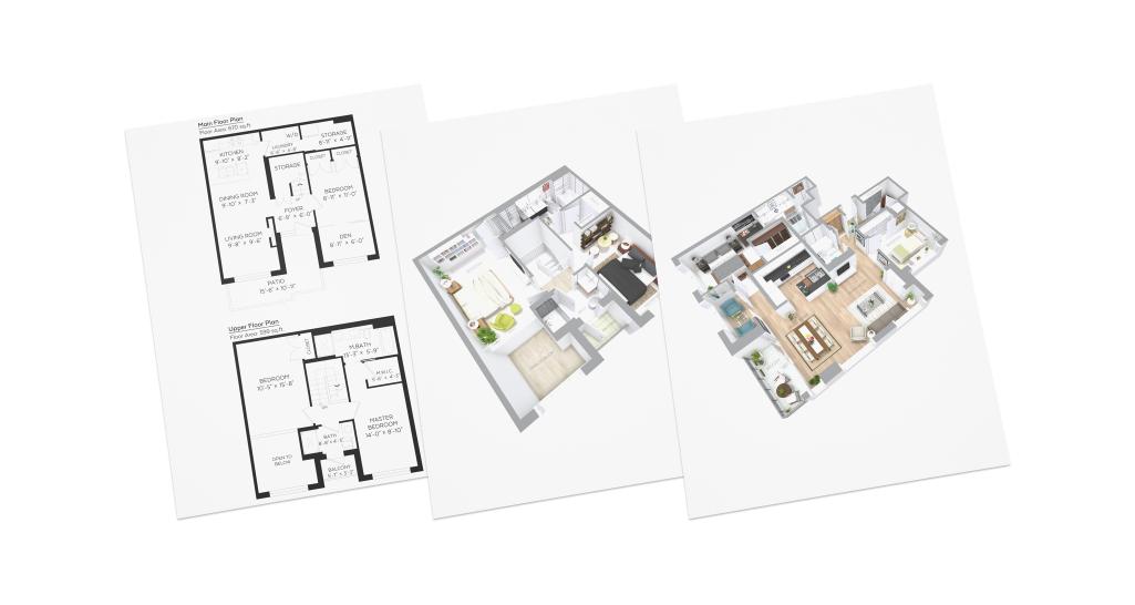 2D & 3D Floor Plans