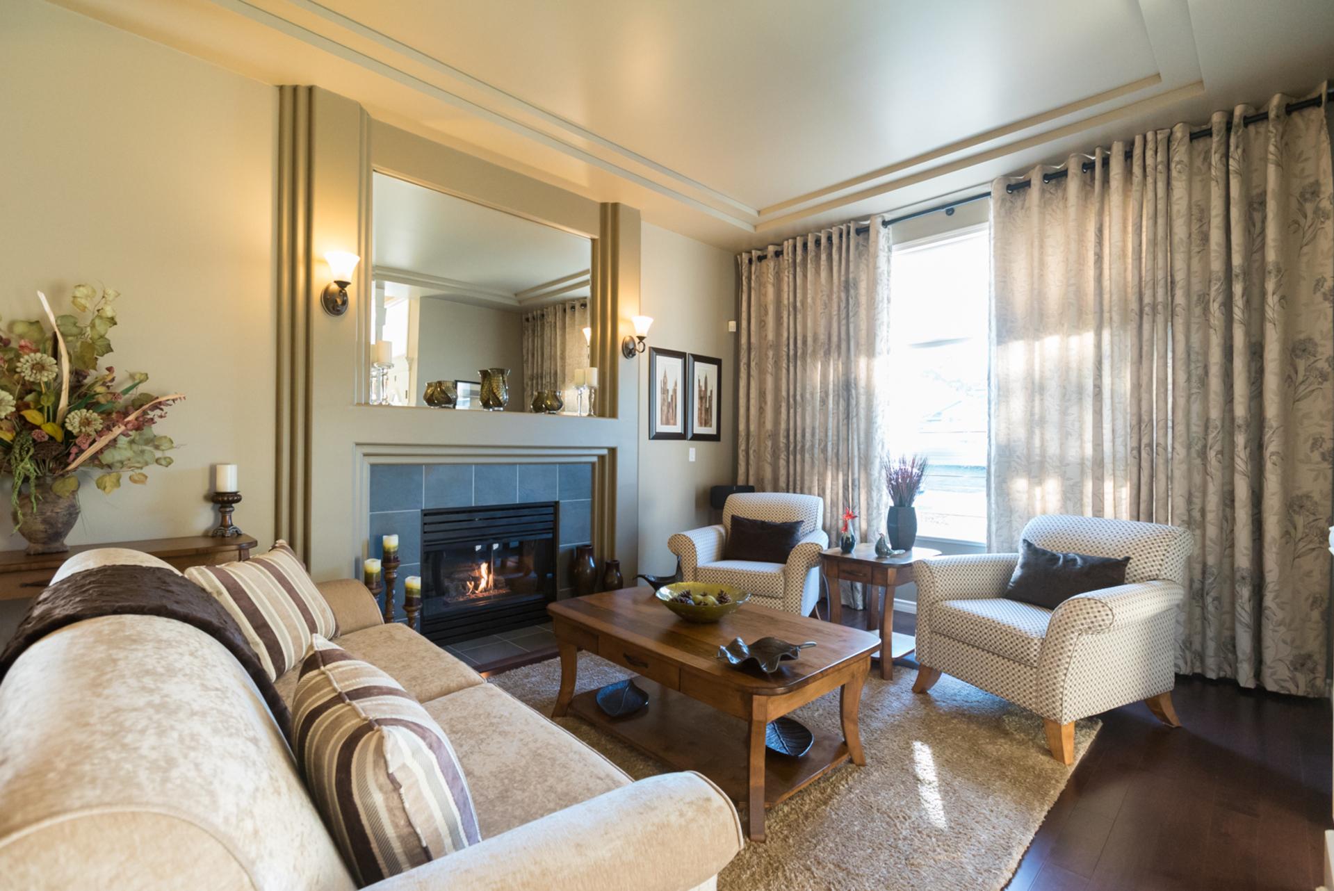 Living Room at 7378 146 Street, East Newton, Surrey