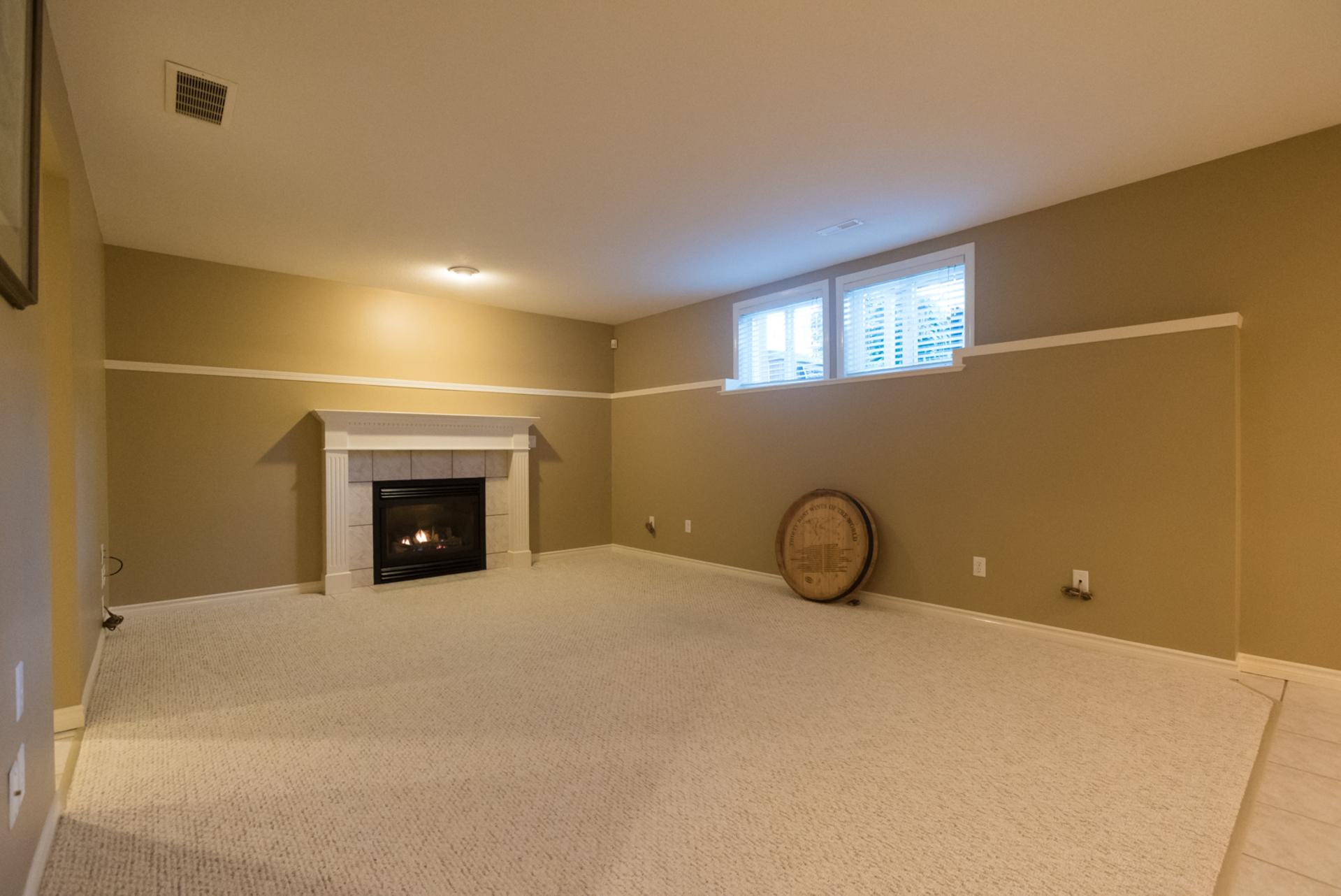 Basement Living Room at 7378 146 Street, East Newton, Surrey