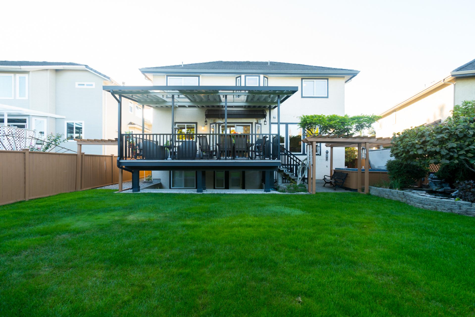 Backyard at 7378 146 Street, East Newton, Surrey