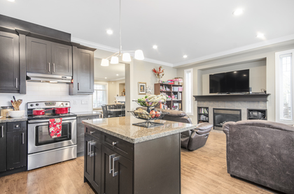 Kitchen + Family Room at 7146 195 Street, Clayton, Cloverdale