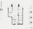 Floor plan. at 405 - Building B The Residences Bosa Bosa, Lynn Valley, North Vancouver
