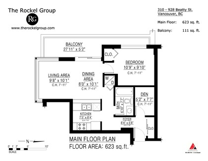 Floor plan at 310 - 928 Beatty Street, Yaletown, Vancouver West