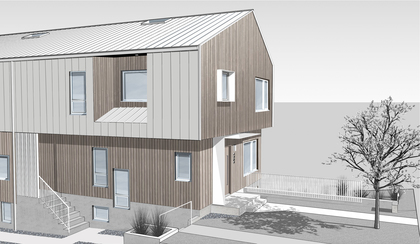 Front View 2 (Rendering) at 4859 Prince Edward Street, Main, Vancouver East
