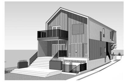 Rear View (Rendering) at 4859 Prince Edward Street, Main, Vancouver East