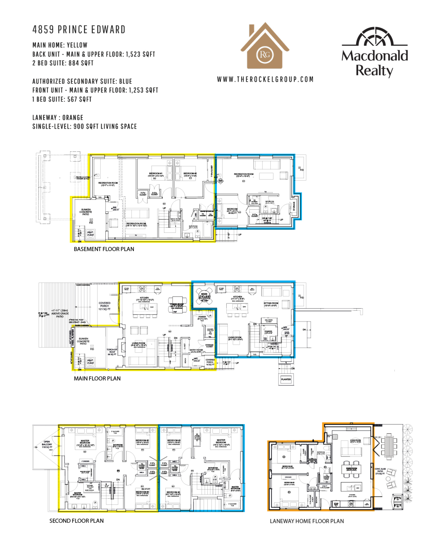 Floor plan - New Build at 4859 Prince Edward Street, Main, Vancouver East