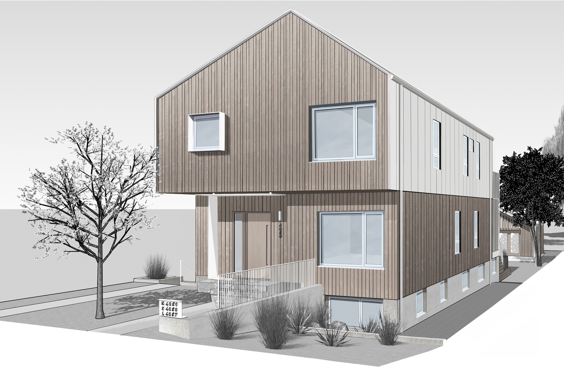 Front View 1 (Rendering) at 4859 Prince Edward Street, Main, Vancouver East