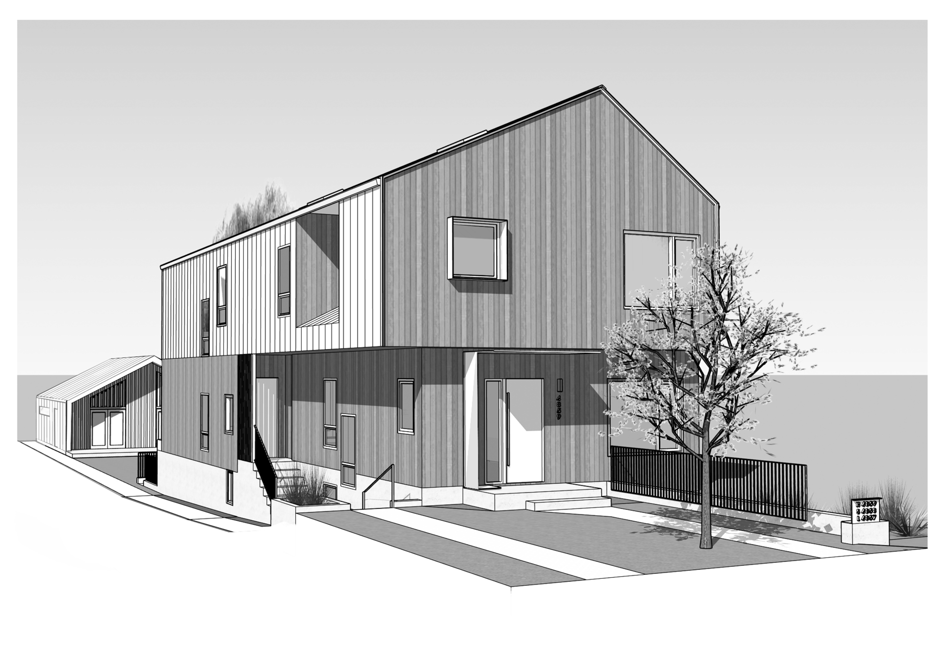 Front View 3 (Rendering) at 4859 Prince Edward Street, Main, Vancouver East