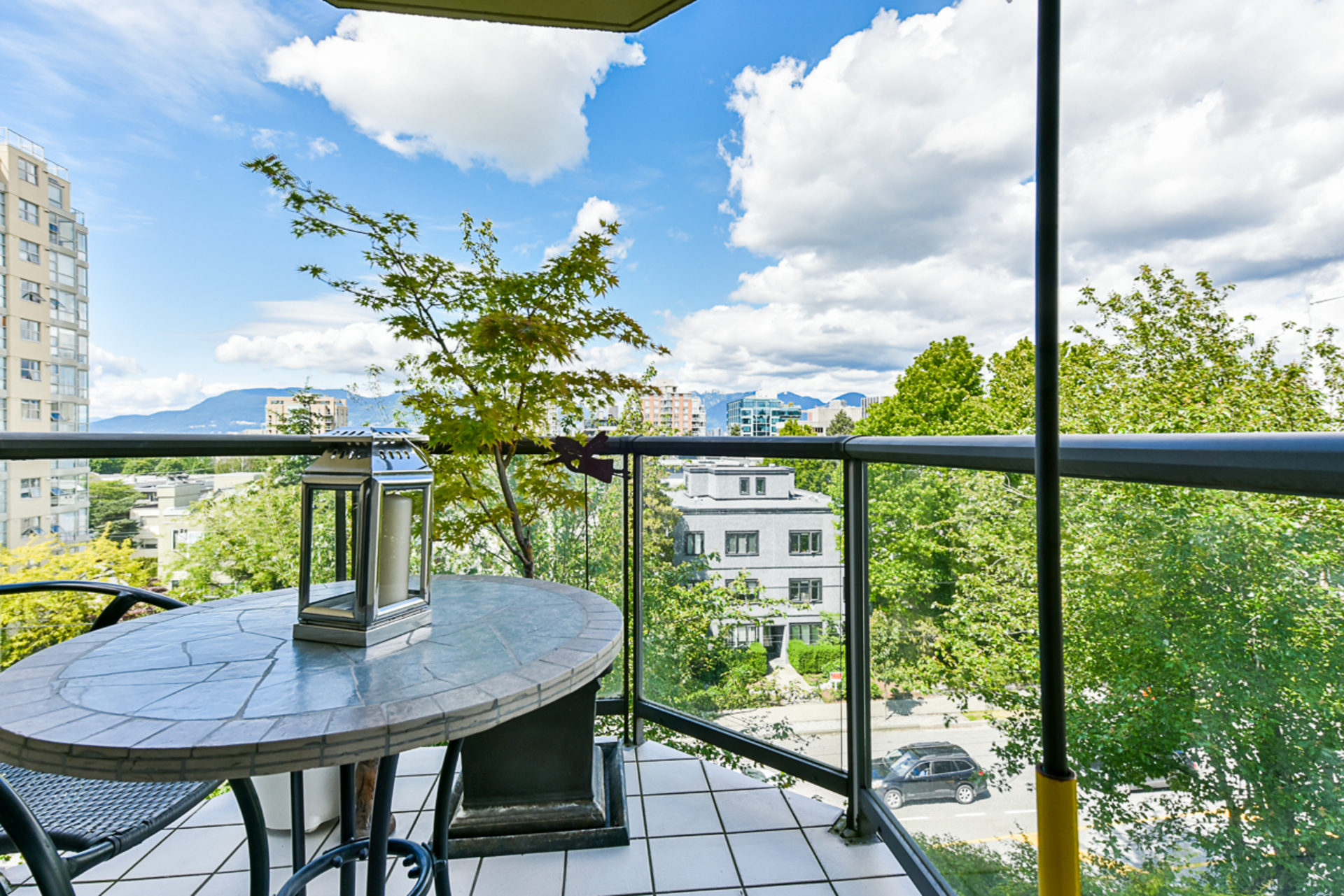 View from North facing patio at 6A - 1568 West 12th Avenue, Fairview VW, Vancouver West