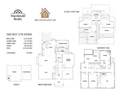 Floor plan at 1989 West 37th Avenue, Quilchena, Vancouver West