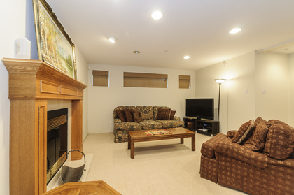Great rec room with a gas fireplace at 1178 West 42nd Avenue, South Granville, Vancouver West