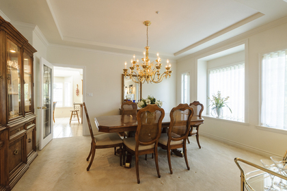 Formal yet open dining space at 1178 West 42nd Avenue, South Granville, Vancouver West