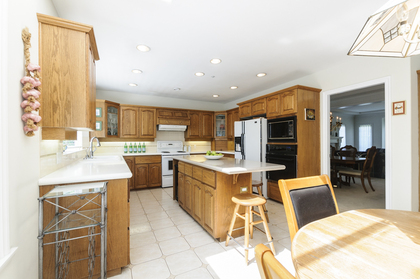 Large kitchen island at 1178 West 42nd Avenue, South Granville, Vancouver West