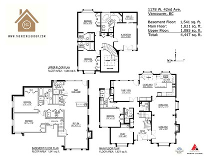 Floor plan at 1178 West 42nd Avenue, South Granville, Vancouver West