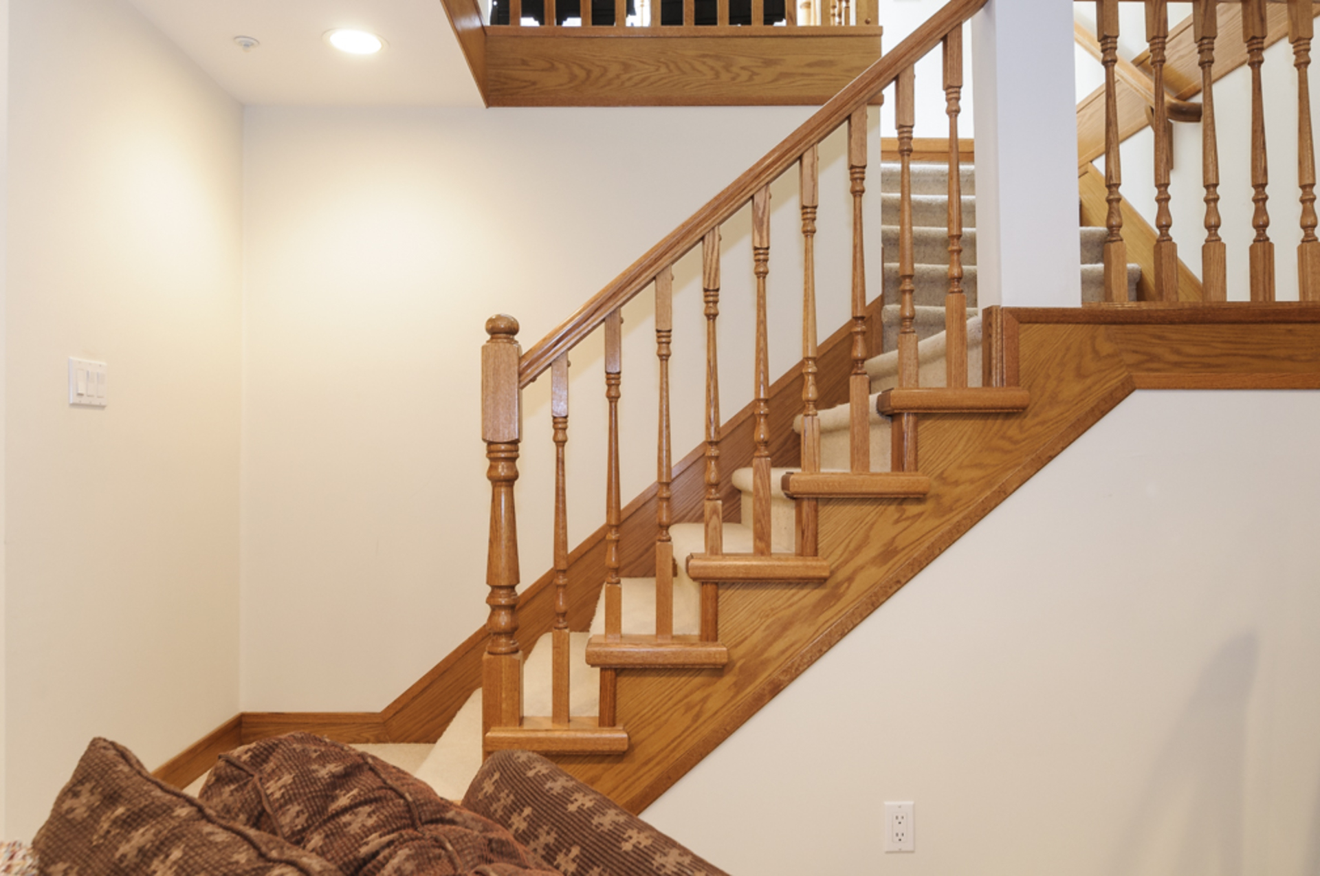 Gorgeous wooden bannister railings throughout the home at 1178 West 42nd Avenue, South Granville, Vancouver West