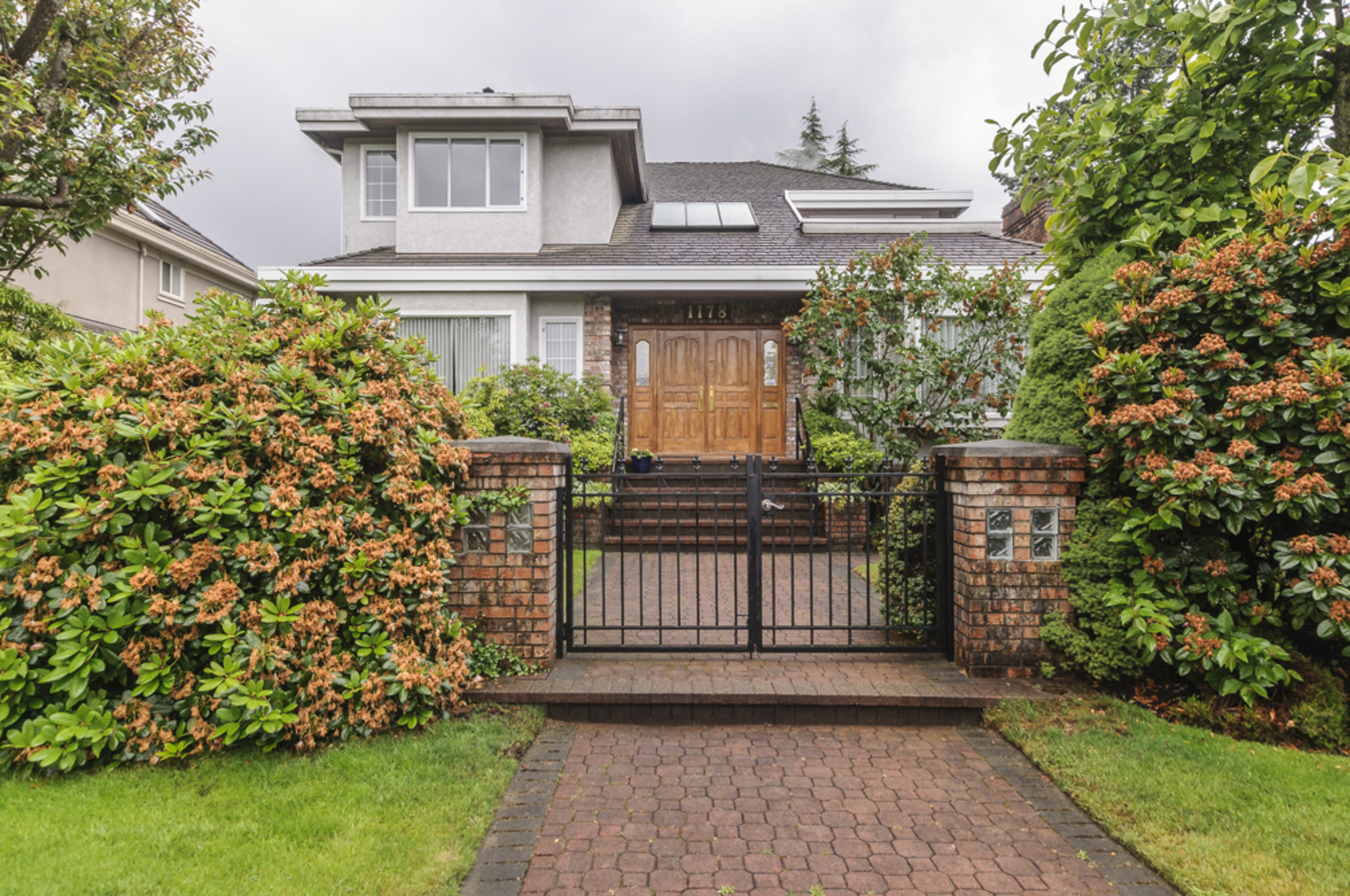 Gated, secure & safe front entrance at 1178 West 42nd Avenue, South Granville, Vancouver West