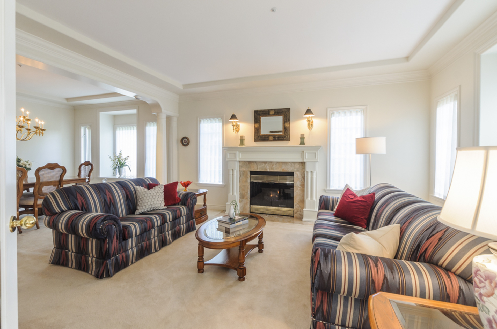 Cozy living room with gas fireplace at 1178 West 42nd Avenue, South Granville, Vancouver West