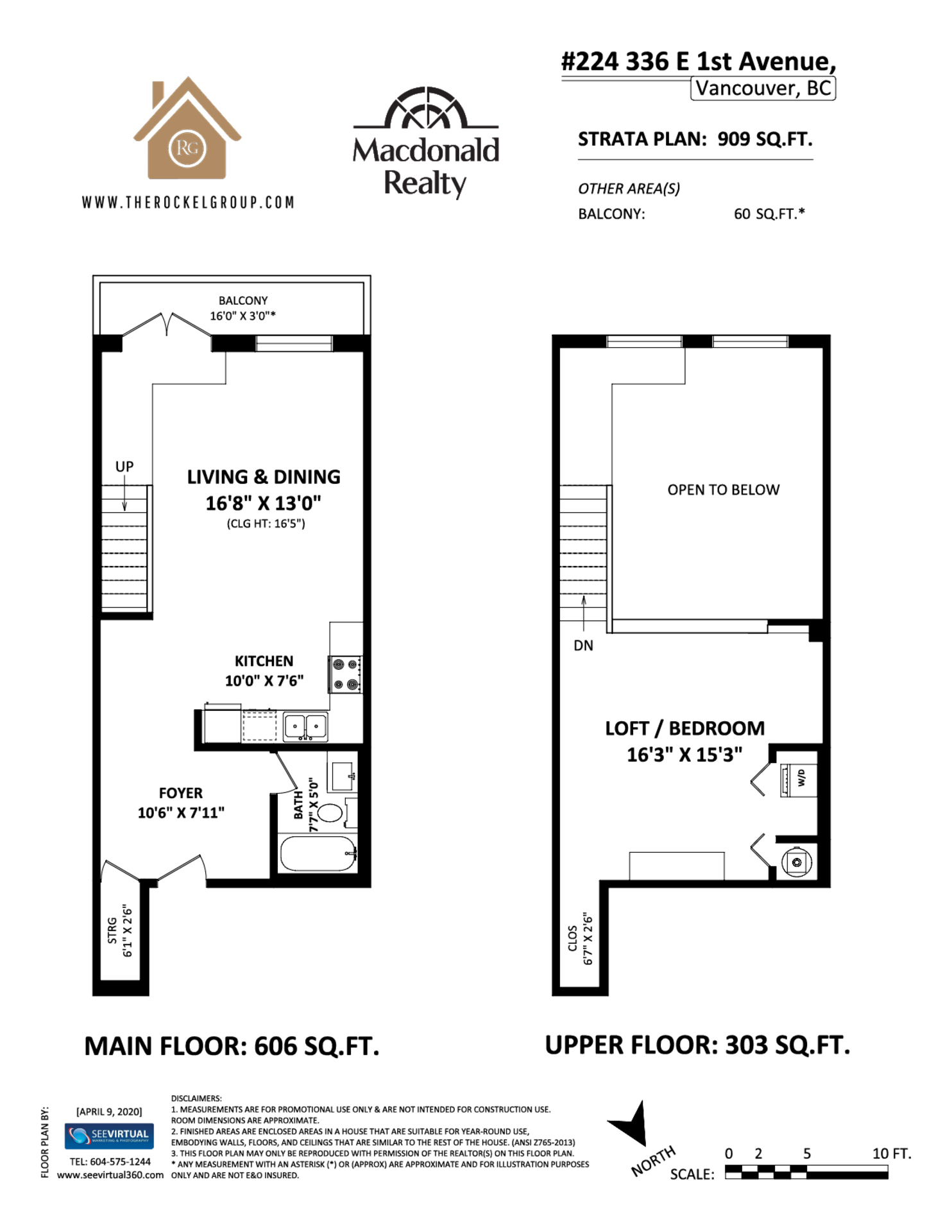 Floor plan at 224 - 336 East 1st Avenue, Strathcona, Vancouver East