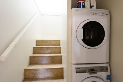 Shared laundry between main and lower suites at 1003 Semlin Drive, Grandview Woodland, Vancouver East