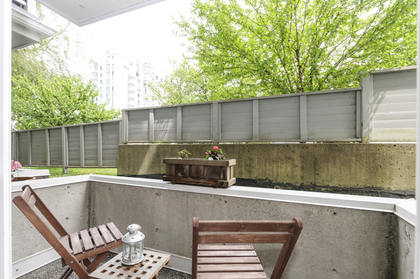 Sunken patio off second bedroom at 102 - 1206 W 14th Avenue, Fairview VW, Vancouver West