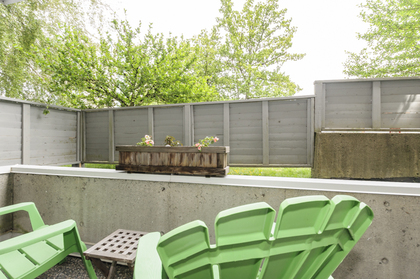 Sunken patio, perfect for 2 patio chairs! at 102 - 1206 W 14th Avenue, Fairview VW, Vancouver West