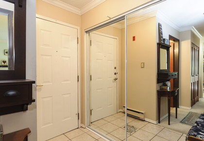 Spacious entrance hall with generous closet at 102 - 1206 W 14th Avenue, Fairview VW, Vancouver West
